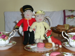 Part of my knitted royal family - one of many knitting projects