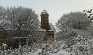 My village of Saltaire in the snow