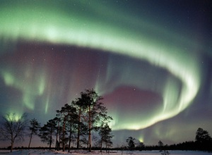 A picture of the Northern Lights (because I thought it would be too cruel to show a reindeer)
