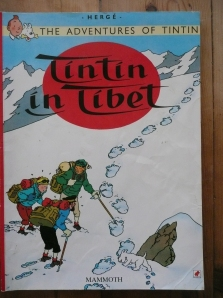 tintin, novels, books, reading, snowy, snow, winter, wintry