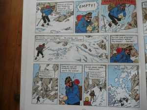 tintin, captain haddock, tibet, snowy, wintry, books, reading