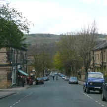 Victoria Road, with the moors in the distance