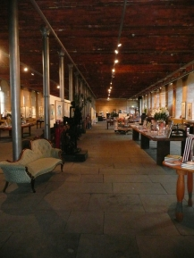The disused mill is now a fabulous bookshop. Check out the chaise-longue