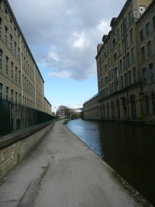 Salt's Mill and the Leeds-Liverpool canal