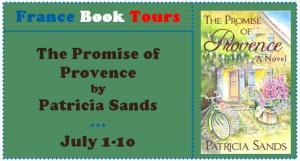patricia sands, france book tours, promise of provence, romance novel