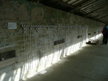 The full installation, stretching down part of the Spinning Room wall